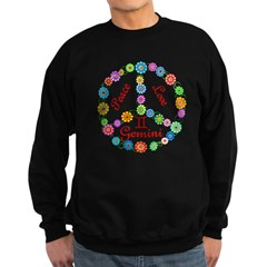 Peace Love Gemini Sweatshirt (dark)