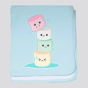 Stacked Marshmallows baby blanket