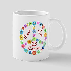 Peace Love Cancer Mug