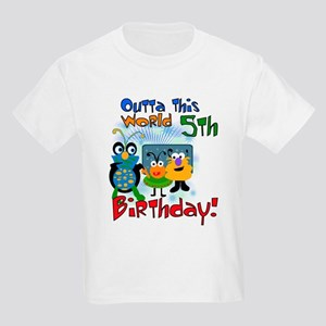 Space Critters 5th Birthday Kids T-Shirt