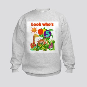 Safari 5th Birthday Kids Sweatshirt