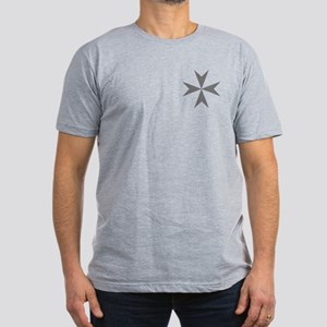 Cross of Malta Men's Fitted T-Shirt (Dark)