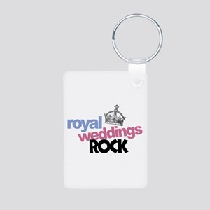 Royal Weddings Rock Aluminum Photo Keychain