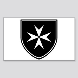 Cross of Malta Sticker (Rectangle)