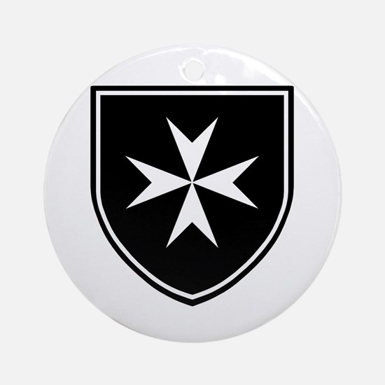 Cross of Malta Ornament (Round)