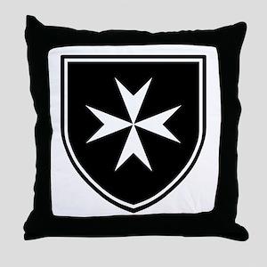 Cross of Malta Throw Pillow
