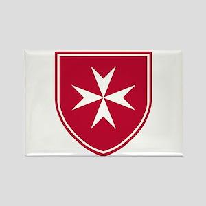 Cross of Malta Rectangle Magnet