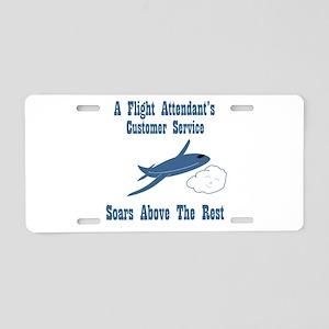 Flight Attendant's Aluminum License Plate