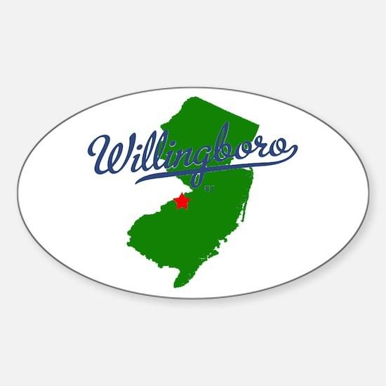 Willingboro, NJ - gray Sticker (Oval)