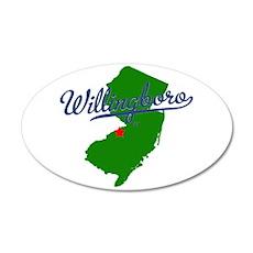 Willingboro, NJ - gray 22x14 Oval Wall Peel