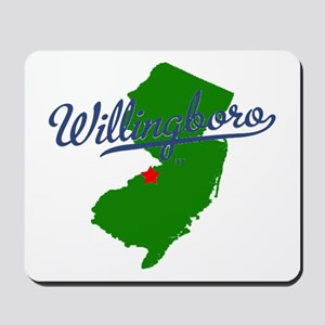 Willingboro, NJ - gray Mousepad