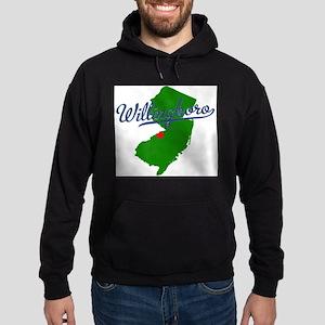 Willingboro, NJ - gray Hoodie (dark)