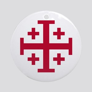 Cross Potent Ornament (Round)
