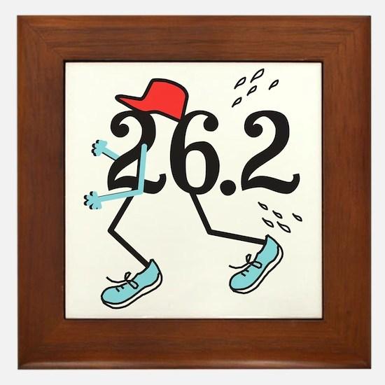 Funny Marathoner 26.2 Framed Tile