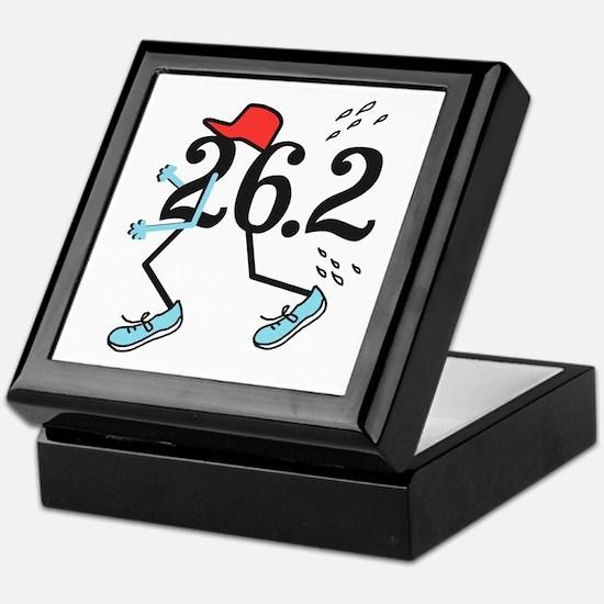 Funny Marathoner 26.2 Keepsake Box
