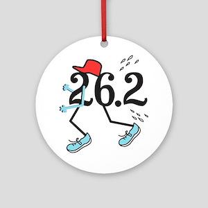 Funny Marathoner 26.2 Ornament (Round)