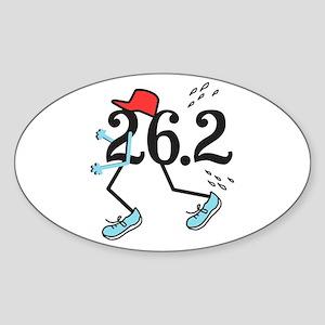 Funny Marathoner 26.2 Sticker (Oval)
