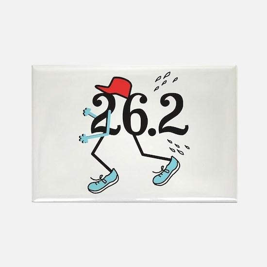 Funny Marathoner 26.2 Rectangle Magnet