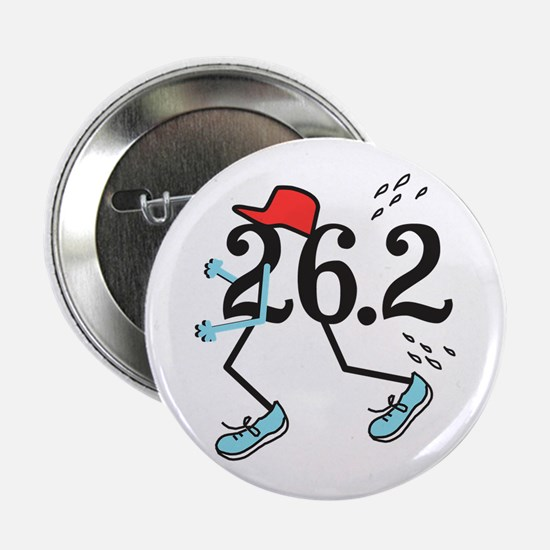 "Funny Marathoner 26.2 2.25"" Button"