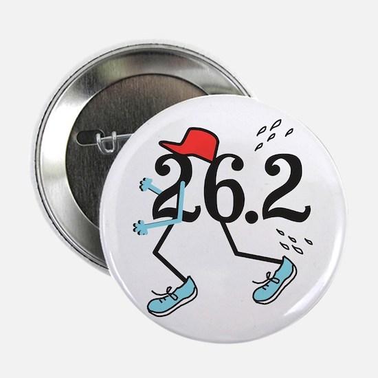 "Funny Marathoner 26.2 2.25"" Button (100 pack)"