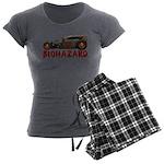 30RatTudor-biohazard Women's Charcoal Pajamas