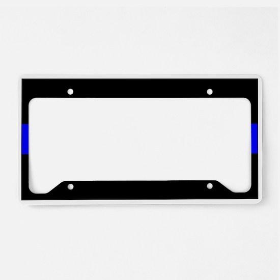 Unique Thin blue line License Plate Holder