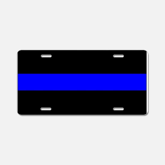 Unique The thin blue line Aluminum License Plate