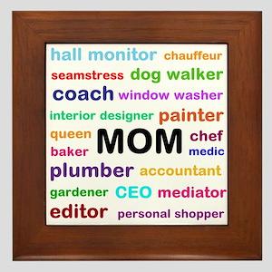 Mom of all Trades Framed Tile
