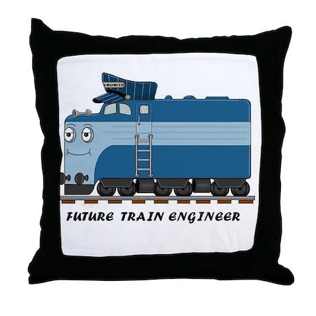 HATWHEEL TRAIN Throw Pillow