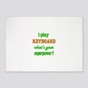 I play Keyboard what's your superpo 5'x7'Area Rug