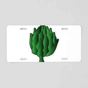 I Love Artichokes! Aluminum License Plate