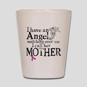 Breast Cancer Mother Angel Shot Glass