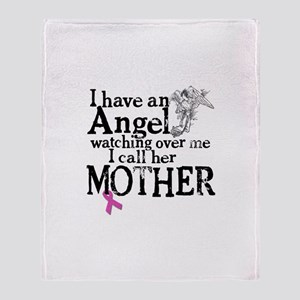 Breast Cancer Mother Angel Throw Blanket