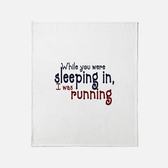 Sleeping in Throw Blanket