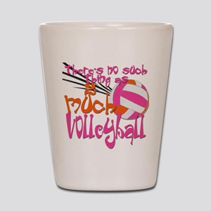 2 much Volleyball Shot Glass
