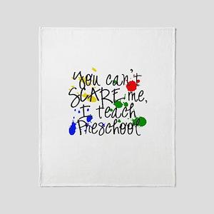 Preschool Scare Throw Blanket
