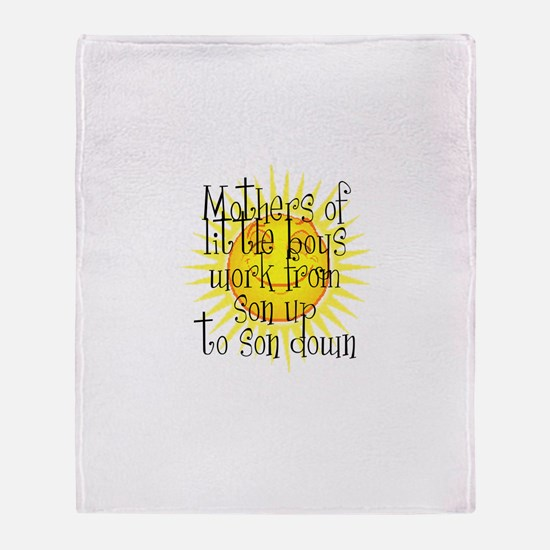 Cute Stay at home Throw Blanket
