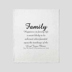 Family Throw Blanket