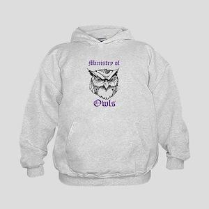 Owl Ministry Blk/Purple Kids Hoodie