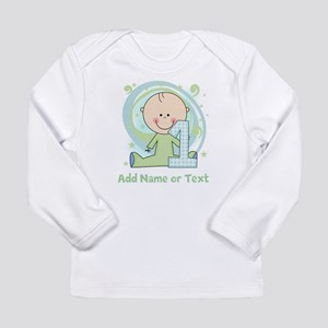 Custom Boy 1st Birthday Long Sleeve Infant T-Shirt