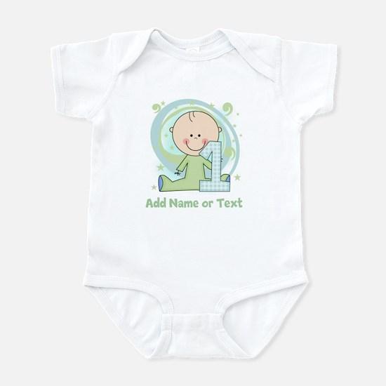 Custom Boy 1st Birthday Infant Bodysuit