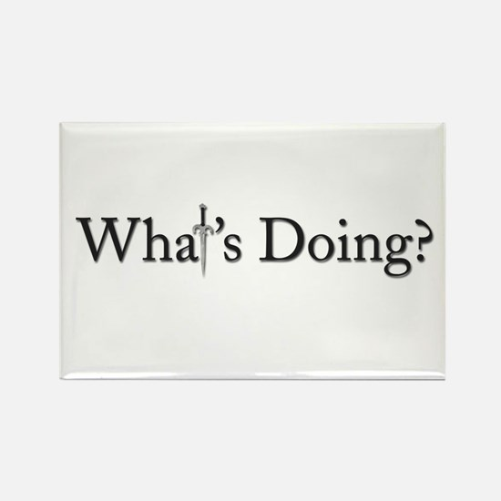 What's Doing? Rectangle Magnet