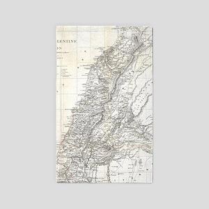 Vintage Map of Lebanon (1856) Area Rug