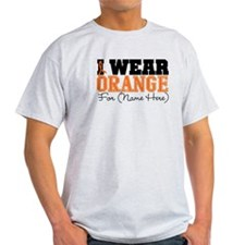Custom I Wear Leukemia Light T-Shirt