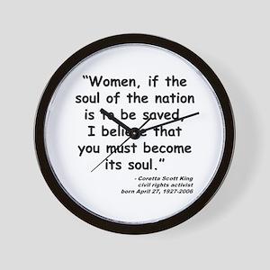 Coretta Soul Quote Wall Clock