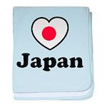 Love Japan baby blanket