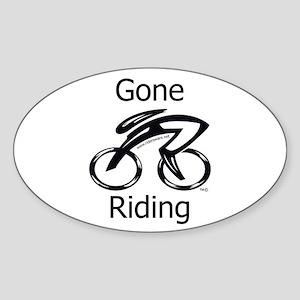 Gone Riding Sticker (Oval)
