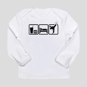 EAT-SLEEP-TKD Long Sleeve Infant T-Shirt