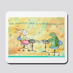 Finish the Race Mousepad