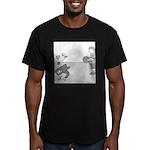 Monkey Bars (no text) Men's Fitted T-Shirt (dark)